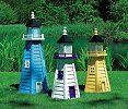 Leuchtturm Holz Gartenleuchtturm