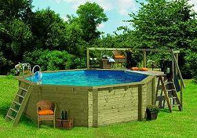 Holzpool und Garten Pool aus Holz Swimmingpool
