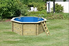 Holzpool garten pool for Gartenpool holz