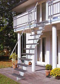 au entreppe stahl gartentreppe aussen treppe garten. Black Bedroom Furniture Sets. Home Design Ideas