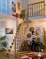 Spartreppe London Holztreppe aufgesattelt