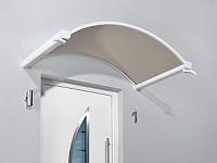 Bogenvordach Aluminium mit Steg-Glas Vordach Plexiglas