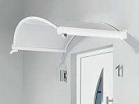 Oval-Bogen-Vordach g�nstig mit Acrylglas Plexiglas-Vord�cher